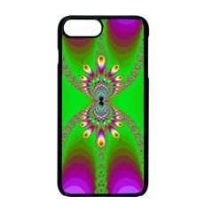Green And Purple Fractal Apple Iphone 7 Plus Seamless Case (black)
