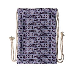 Welcome Letters Pattern Drawstring Bag (small) by dflcprints