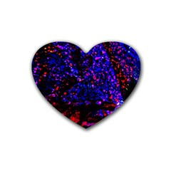 Grunge Abstract Heart Coaster (4 Pack)  by Amaryn4rt