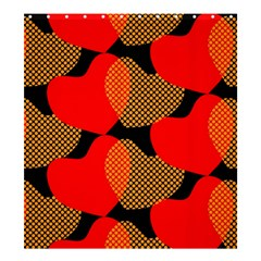 Heart Pattern Shower Curtain 66  X 72  (large)  by Amaryn4rt