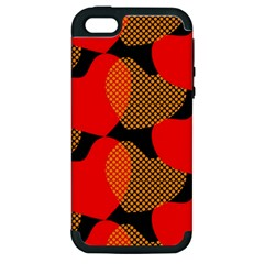 Heart Pattern Apple Iphone 5 Hardshell Case (pc+silicone) by Amaryn4rt