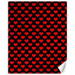 Love Pattern Hearts Background Canvas 11  X 14   by Amaryn4rt
