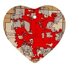 Map Of Franklin County Ohio Highlighting Columbus Ornament (heart)