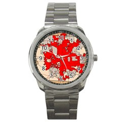 Map Of Franklin County Ohio Highlighting Columbus Sport Metal Watch by Amaryn4rt