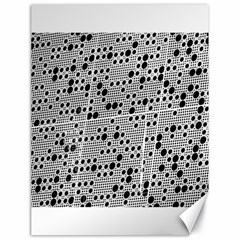 Metal Background Round Holes Canvas 18  X 24