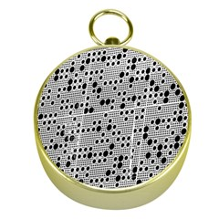 Metal Background Round Holes Gold Compasses by Amaryn4rt