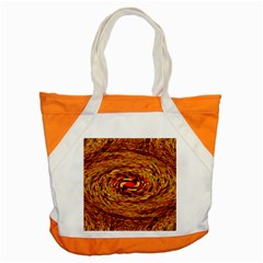 Orange Seamless Psychedelic Pattern Accent Tote Bag by Amaryn4rt