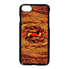 Orange Seamless Psychedelic Pattern Apple Iphone 7 Seamless Case (black) by Amaryn4rt