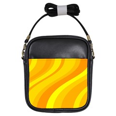 Orange Yellow Background Girls Sling Bags by Amaryn4rt