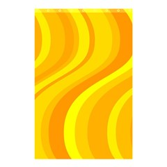 Orange Yellow Background Shower Curtain 48  X 72  (small)  by Amaryn4rt