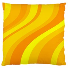 Orange Yellow Background Large Cushion Case (one Side)