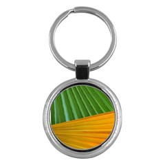 Pattern Colorful Palm Leaves Key Chains (round)  by Amaryn4rt