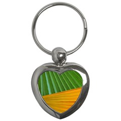Pattern Colorful Palm Leaves Key Chains (heart)  by Amaryn4rt