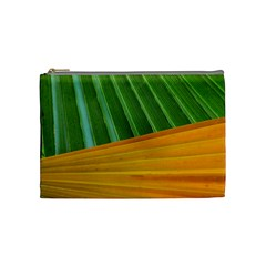 Pattern Colorful Palm Leaves Cosmetic Bag (medium)  by Amaryn4rt