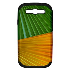 Pattern Colorful Palm Leaves Samsung Galaxy S Iii Hardshell Case (pc+silicone) by Amaryn4rt