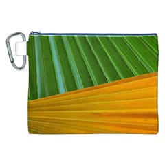 Pattern Colorful Palm Leaves Canvas Cosmetic Bag (xxl) by Amaryn4rt