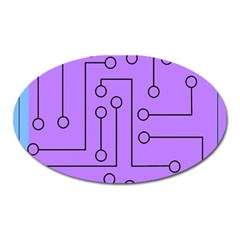 Peripherals Oval Magnet by Amaryn4rt