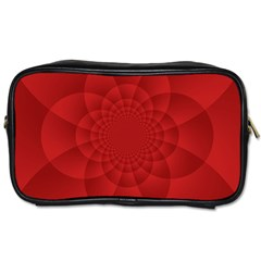 Psychedelic Art Red  Hi Tech Toiletries Bags 2 Side