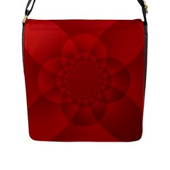 Psychedelic Art Red  Hi Tech Flap Messenger Bag (l)  by Amaryn4rt