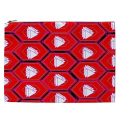 Red Bee Hive Cosmetic Bag (xxl)