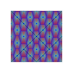 Red Blue Bee Hive Acrylic Tangram Puzzle (4  X 4 ) by Amaryn4rt