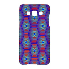 Red Blue Bee Hive Samsung Galaxy A5 Hardshell Case  by Amaryn4rt