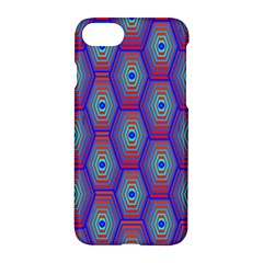 Red Blue Bee Hive Apple Iphone 7 Hardshell Case by Amaryn4rt