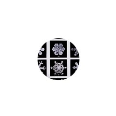 Snowflakes Exemplifies Emergence In A Physical System 1  Mini Buttons by Amaryn4rt