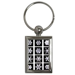 Snowflakes Exemplifies Emergence In A Physical System Key Chains (rectangle)  by Amaryn4rt