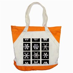 Snowflakes Exemplifies Emergence In A Physical System Accent Tote Bag by Amaryn4rt