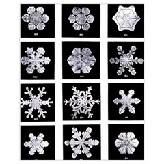 Snowflakes Exemplifies Emergence In A Physical System Drawstring Bag (small) by Amaryn4rt
