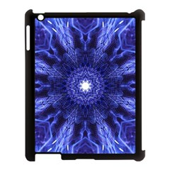 Tech Neon And Glow Backgrounds Psychedelic Art Apple Ipad 3/4 Case (black) by Amaryn4rt