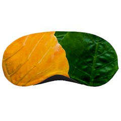 Wet Yellow And Green Leaves Abstract Pattern Sleeping Masks by Amaryn4rt