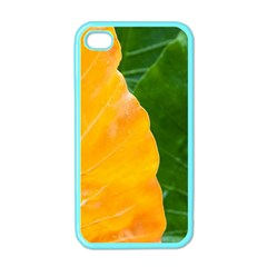 Wet Yellow And Green Leaves Abstract Pattern Apple Iphone 4 Case (color) by Amaryn4rt