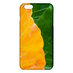 Wet Yellow And Green Leaves Abstract Pattern iPhone 6 Plus/6S Plus TPU Case by Amaryn4rt