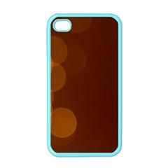 Yellow And Orange Blurred Lights Orange Gerberas Yellow Bokeh Background Apple Iphone 4 Case (color)