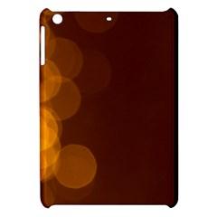 Yellow And Orange Blurred Lights Orange Gerberas Yellow Bokeh Background Apple Ipad Mini Hardshell Case by Amaryn4rt