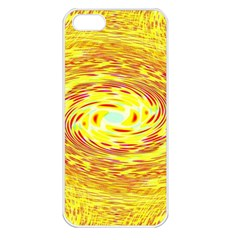 Yellow Seamless Psychedelic Pattern Apple Iphone 5 Seamless Case (white) by Amaryn4rt