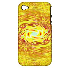 Yellow Seamless Psychedelic Pattern Apple Iphone 4/4s Hardshell Case (pc+silicone) by Amaryn4rt