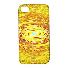 Yellow Seamless Psychedelic Pattern Apple Iphone 4/4s Hardshell Case With Stand by Amaryn4rt