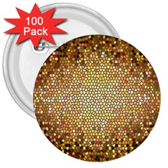 Yellow And Black Stained Glass Effect 3  Buttons (100 Pack)  by Amaryn4rt