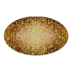 Yellow And Black Stained Glass Effect Oval Magnet by Amaryn4rt