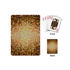 Yellow And Black Stained Glass Effect Playing Cards (mini)  by Amaryn4rt