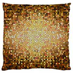 Yellow And Black Stained Glass Effect Large Cushion Case (two Sides) by Amaryn4rt