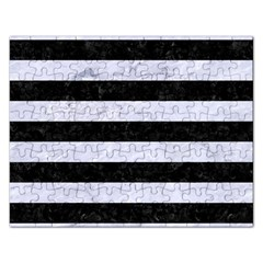 Stripes2 Black Marble & White Marble Jigsaw Puzzle (rectangular) by trendistuff