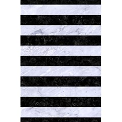 Stripes2 Black Marble & White Marble 5 5  X 8 5  Notebook by trendistuff