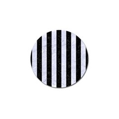 Stripes1 Black Marble & White Marble Golf Ball Marker (4 Pack) by trendistuff