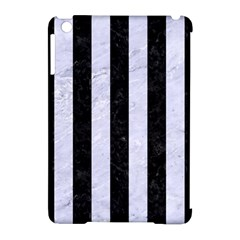 Stripes1 Black Marble & White Marble Apple Ipad Mini Hardshell Case (compatible With Smart Cover) by trendistuff