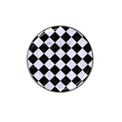 Square2 Black Marble & White Marble Hat Clip Ball Marker (4 Pack) by trendistuff
