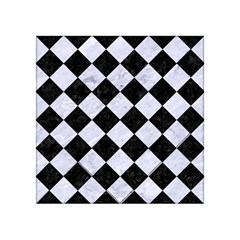 Square2 Black Marble & White Marble Acrylic Tangram Puzzle (4  X 4 ) by trendistuff